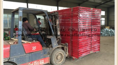scaffolding packing process